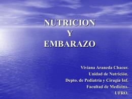 NUTRICION Y EMBARAZO - Facultad de Medicina UFRO