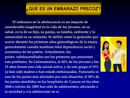 Diapositiva 1 - Embarazo Precoz