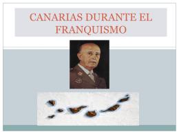 CANARIAS DURANTE EL FRANQUISMO
