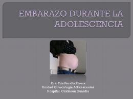 EMBARAZO DURANTE LA ADOLESCENCIA