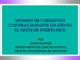 REGIMEN DE CORRIENTES COSTANERAS DURANTE UN …