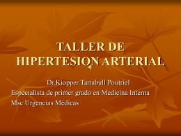 TALLER DE HIPERTESION ARTERIAL