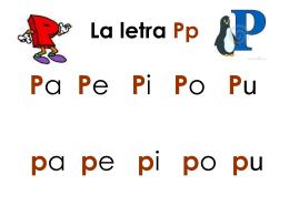 La letra Pp