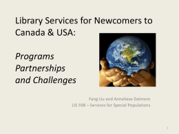 Library Services for Newcomers to Canada & USA: …