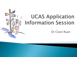 UCAS Application Information Session