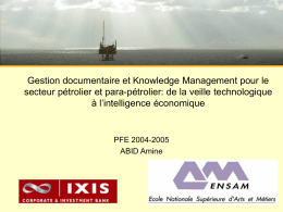 Gestion documentaire et Knowledge management pour le