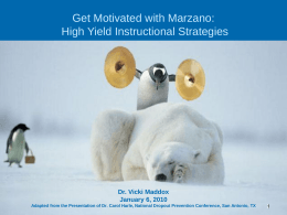 Marzano's High Leverage Strategies