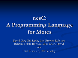 Programming Languages for Motes