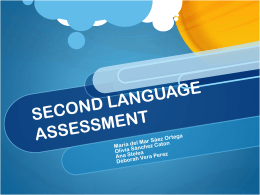 SECOND LANGUAGE ASSESSMENT - Proyecto Webs
