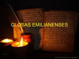LAS GLOSAS EMILIANENSES.