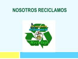 PROYECTO NOSOTROS RECICLAMOS