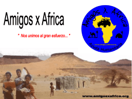 Diapositiva 1 - ONG Amigos Unidos x Africa