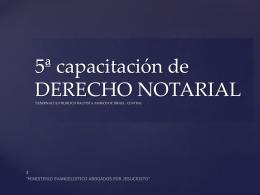 SEMINARIO DERECHO NOTARIAL TABERNACULO …