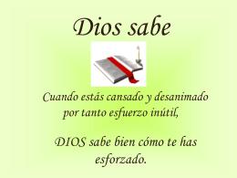 Dios sabe
