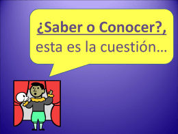 Saber vs Conocer - Languages Resources