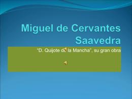 Miguel de Cervantes Saavedra - evaingles