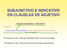 USE OF SUBJUNCTIVE & INDICATIVE IN ADVERBIAL …