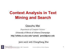 Contextual Text Mining through Probabilistic Theme Analysis
