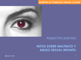 Mitos sobre maltrato y abuso sexual infantil