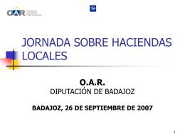 JORNADA SOBRE HACIENDAS LOCALES