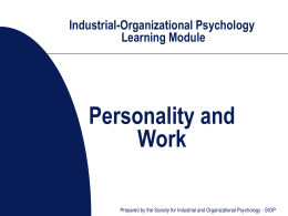 SIOP-Industrial-Organizational Psychology Learning …