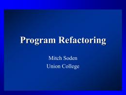 Program Refactoring