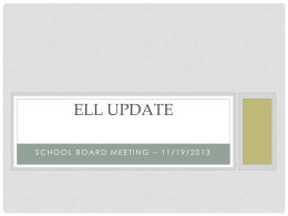 ELL Progress Report