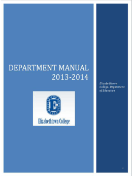 Education Department Handbook 2012-2013