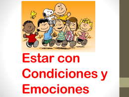 Estar with conditions and Emotions