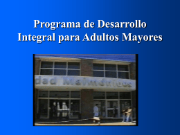 Programa de Desarrollo Integral del Adulto Mayor