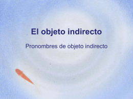 El objeto indirecto - Language Resource Center
