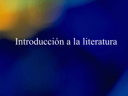 Introduccion a la literatura