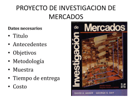 PROYECTO DE INVESTIGACION DE MERCADOS