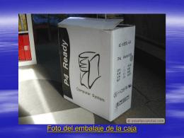 Foto del embalaje de la caja