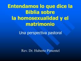 Hacia una teologia Biblica del matrimonio