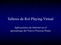 Talleres de Rol Playing Virtual