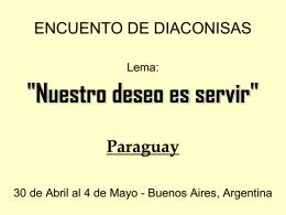 ENCUENTO DE DIACONISAS - Alma Diaconal | Cuidando y