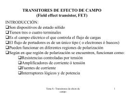 TRANSITORES DE EFECTO DE CAMPO
