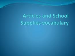 El vocabulario 1B
