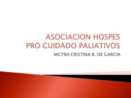 ASOCIACION HOSPES PRO CUIDADO PALIATIVOS