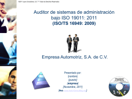 ISO 19011: 2011 - Auto Consulting