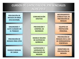 CURSOS DE CAPACITACION ACHS 2013