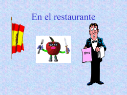 En el restaurante - Languages Resources