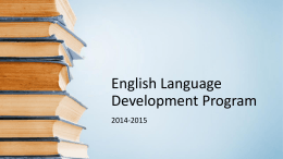 English Language Development Program
