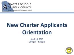 Charter Principal's Meeting