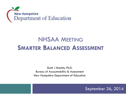 Smarter Balanced Assessment - WVES | Waterville Valley