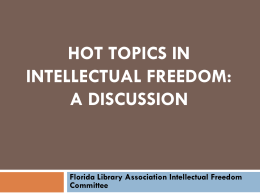 Florida Library Association Intellectual Freedom Committee