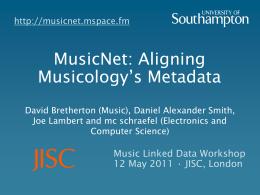 MusicNet: Aligning Musicology's Metadata