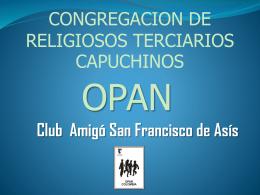 CONGREGACION DE RELIGIOSOS TERCIARIOS …