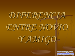 DIFERENCIA ENTRE NOVIO Y AMIGO